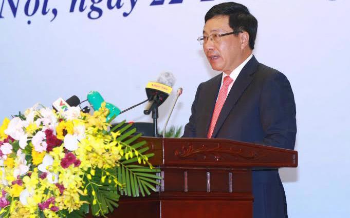Phó thủ tướng - Bộ trưởng Bộ Ngoại giao Phạm Bình Minh khai mạc hội nghị ngoại giao lần thứ 29.