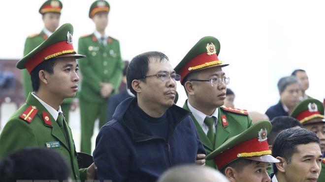 Bị cáo Phạm Nhật Vũ tại phiên toà hôm nay.