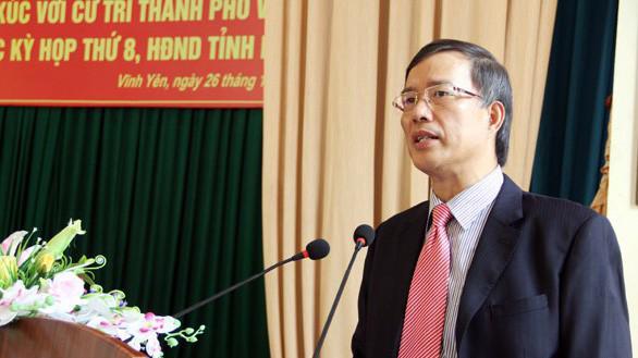 Nguyên Bí thư Tỉnh ủy Vĩnh Phúc Phạm Văn Vọng.