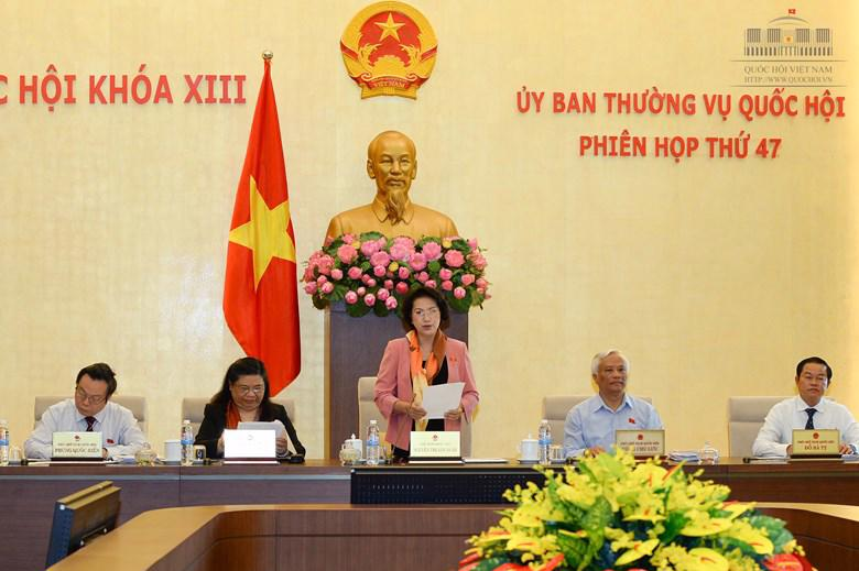 Phiên họp thứ 47 của Uỷ ban Thường vụ Quốc hội.