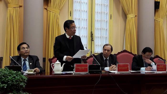 Phó thống đốc Nguyễn Kim Anh giới thiệu những điểm mới của Luật Các tổ chức tín dụng.