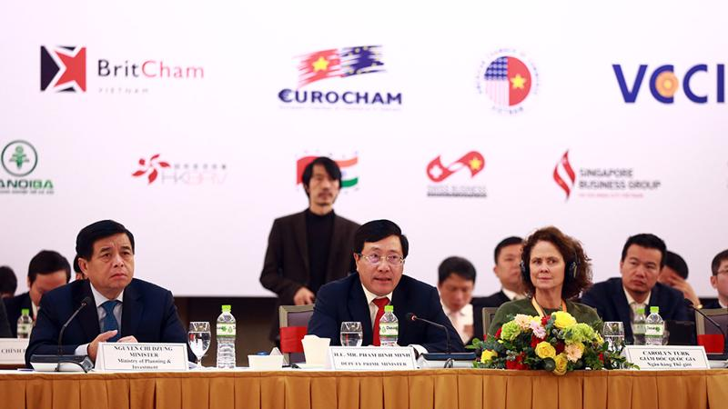 Phó thủ tướng, Bộ trưởng Bộ Ngoại giao Phạm Bình Minh tại Diễn đàn VBF 2020.