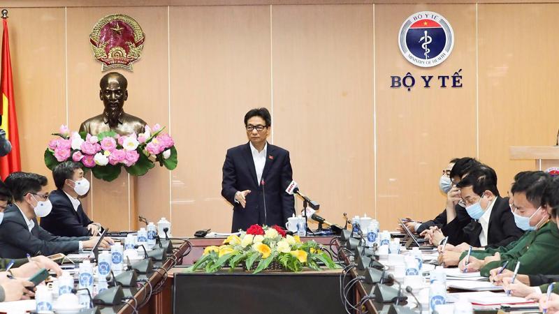 Phó Thủ tướng Vũ Đức Đam chủ trì cuộc họp chiều 28/1. Ảnh - Tuấn Dũng.