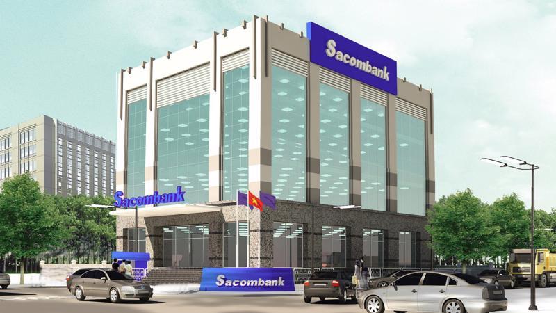 Phối cảnh hình ảnh chi nhánh của Sacombank tại Lào Cai.