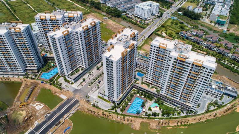 Phối cảnh dự án chung cư Flora Mizuki (giai đoạn 1) - khu đô thị Mizuki Park (26ha, Bình Chánh) của Nam Long.