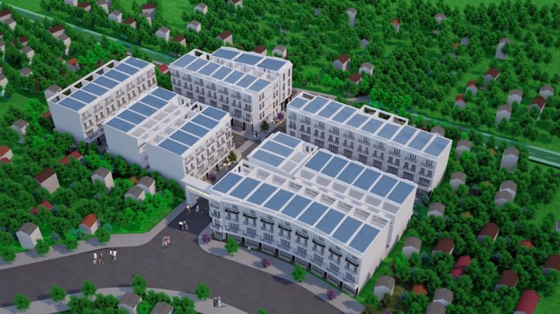 Dự án gồm 55 lô liền kề có diện tích đa dạng từ 54,7 - 116,7 m2 để khách hàng có nhiều lựa chọn.
