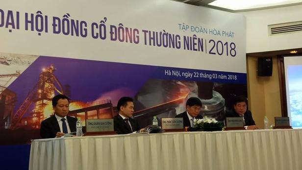 Đại hội cổ đông của Tập đoàn Hoà Phát (HPG) năm 2018.