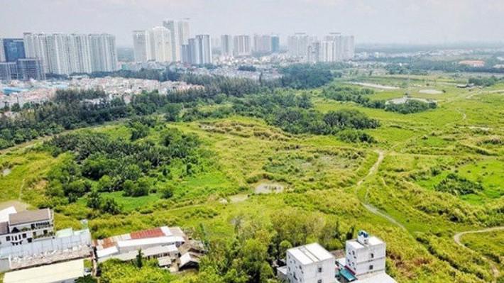 Một góc dự án khu cư dân Phước Kiển huyện Nhà Bè.