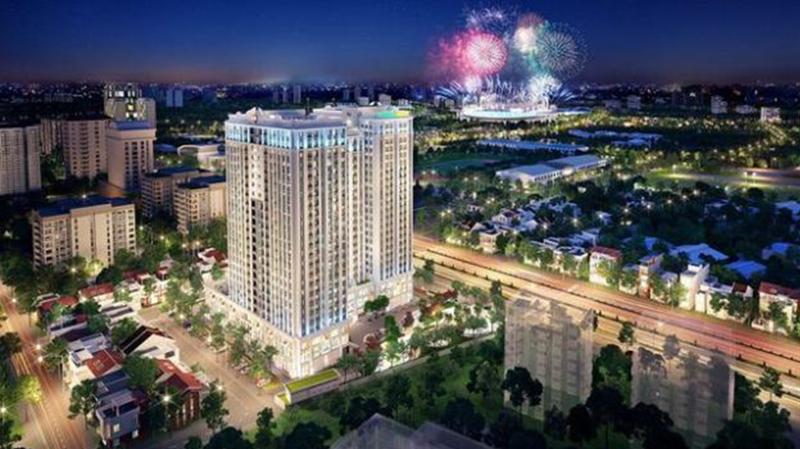 Dự án chung cư cao cấp Florence Mỹ Đình với diện tích 9.976 m2, 3 tầng hầm, 25 tầng nổi.