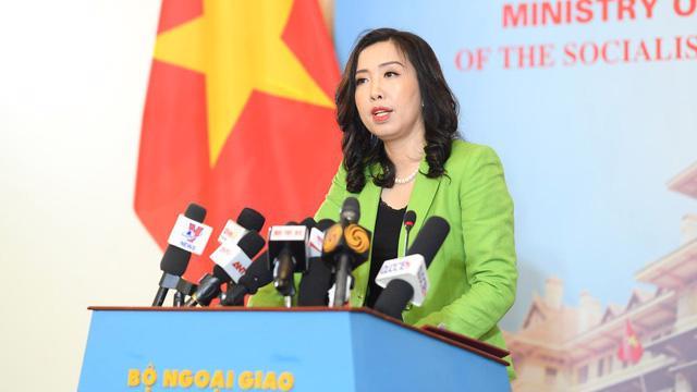 Người phát ngôn Bộ Ngoại giao Lê Thị Thu Hằng - Ảnh: Dân Trí