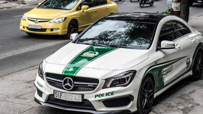 Cục Đăng kiểm đề nghị chủ xe ôtô gỡ logo cảnh sát Dubai.