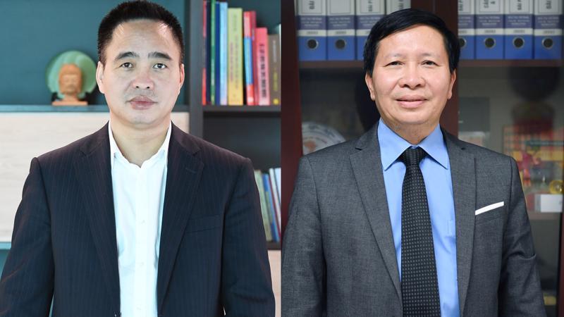 Phó tổng Giám đốc VOV Phạm Mạnh Hùng (bên trái) và Vũ Hải Quang - Ảnh: VGP