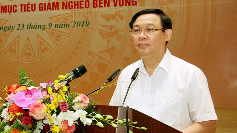 Phó thủ tướng Vương Đình Huệ phát biểu tại hội nghị - Ẩnh: VGP