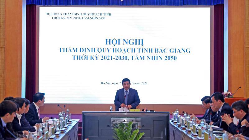 Cuộc họp thẩm định Quy hoạch tỉnh Bắc Giang thời kỳ 2021-2030, tầm nhìn đến năm 2050.
