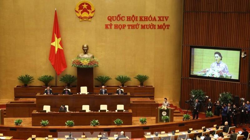 9h00 sáng ngày 24/3, Quốc hội khóa 14 khai mạc trọng thể Kỳ họp thứ 11 tại Nhà Quốc hội.