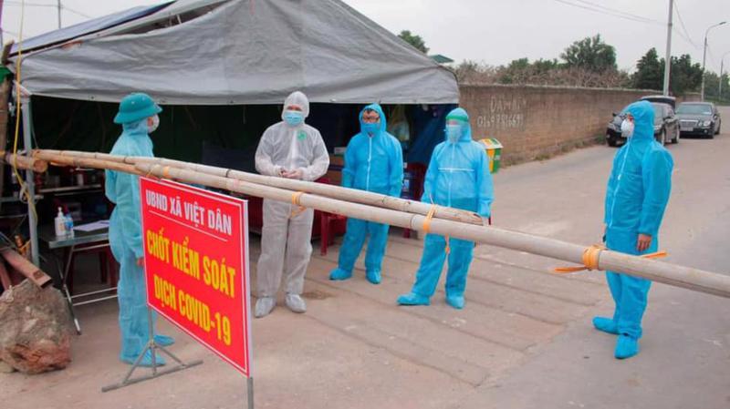 Quảng Ninh lập chốt kiểm soát phòng chống dịch Covid-19. Ảnh - Bộ Y tế.