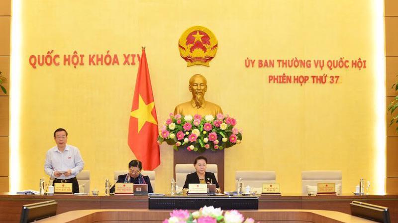 Phó chủ tịch Quốc hội Phùng Quốc Hiển điều hành phiên thảo luận - Ảnh: Quang Phúc.