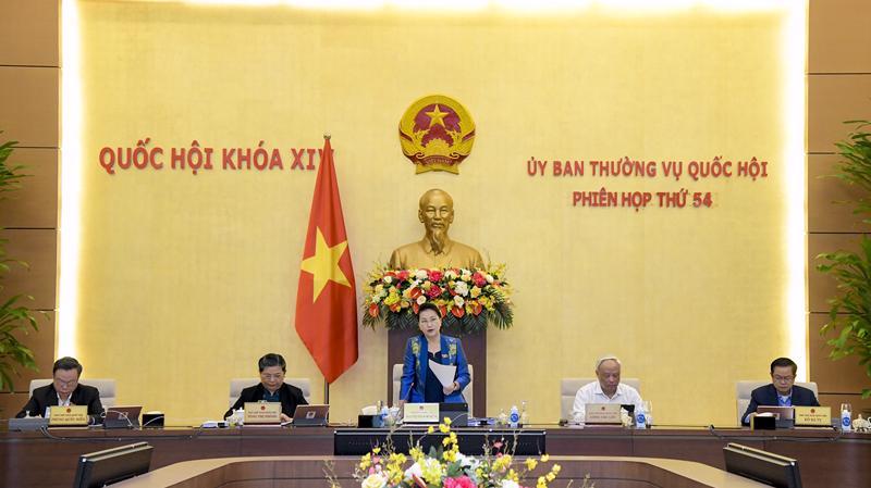 Ủy ban Thường vụ Quốc hội họp phiên thứ 54 ngày 15/3 - Ảnh: Quochoi.vn