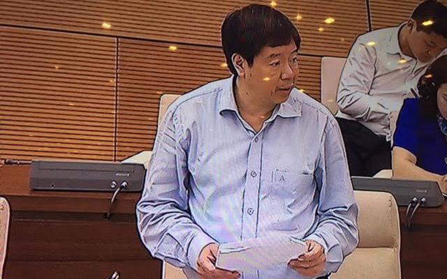 Thứ trưởng Bộ Khoa học và công nghệ Trần Quốc Khánh tại phiên họp sáng 25/5 của Uỷ ban Thường vụ Quốc hội.