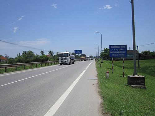 Quốc lộ 1 đoạn Thanh Hoá - Cần Thơ.