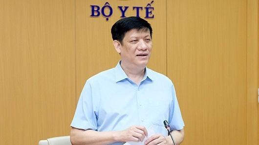 Quyền Bộ trưởng Bộ Y tế Nguyễn Thanh Long chỉ đạo các nội dung về công tác phòng chống dịch Covid-19 tại hội nghị giao ban. Ảnh - Bộ Y tế.