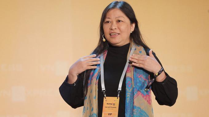 Bà Nguyễn Phi Vân, Chủ tịch Mạng lưới đầu tư thiên thần Việt Nam.