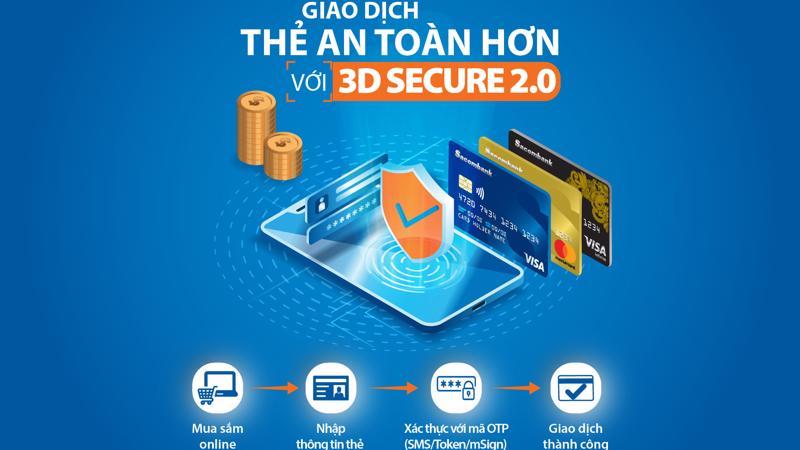 Điểm nổi bật của 3D-Secure 2.0 là thời gian xử lý giao dịch nhanh hơn và tính bảo mật cao hơn, cho phép khách hàng sử dụng thêm nhiều phương thức xác thực mới.