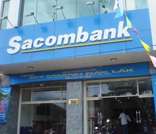 Một chi nhánh của Sacombank.