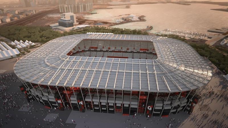 Sân vận động Ras Abu 40.000 chỗ ngồi, FIFA World Cup 2022 (Quatar) đang được công ty Đại Dũng gấp rút hoàn thiện.