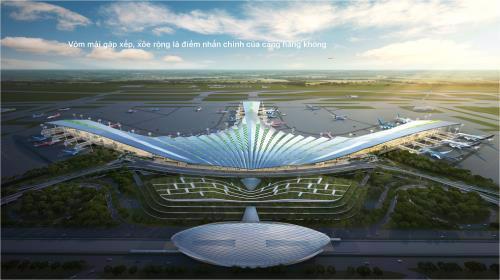Một trong 3 thiết kế được chọn vào vòng cuối của dự án sân Bay Long Thành.<br>