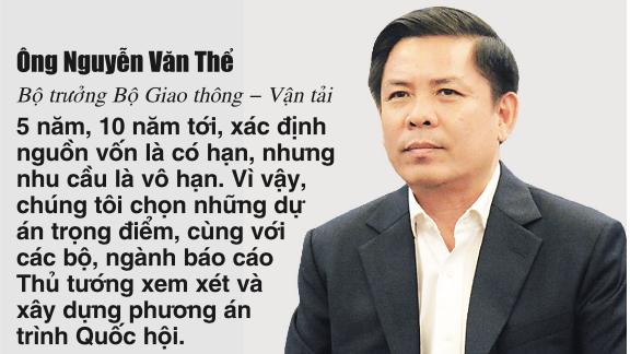 Ông Nguyễn Văn Thể, Bộ trưởng Bộ Giao thông Vận tải