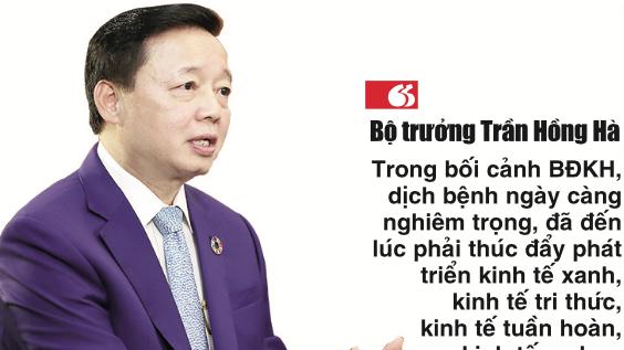 Ông Trần Hồng Hà, Bộ trưởng Bộ Tài nguyên và Môi trường