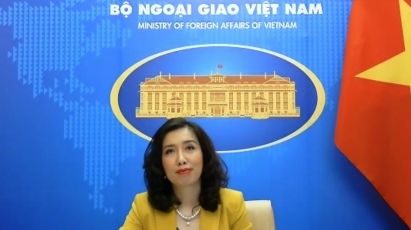Người phát ngôn Bộ Ngoại giao Lê Thị Thu Hằng tại họp báo thường kỳ chiều 25/2.