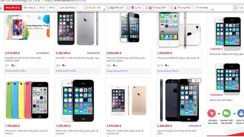 Các loại iPhone 4, 5 đang được rao bán với giá rẻ trên thị trường Hà Nội hiện nay đa phần đều là hàng dựng.