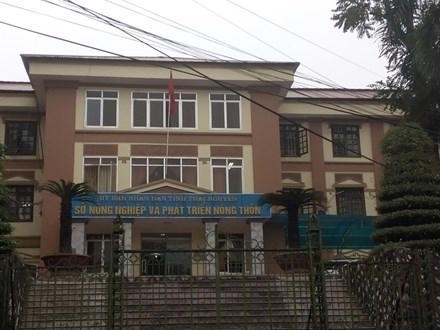 Trụ sở Sở Nông nghiệp và Phát triển nông thôn Thái Nguyên.<br>