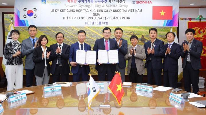 Hàn Quốc đã ký hợp đồng chuyển giao công nghệ xử lý nước thải cho Công ty Sơn Hà
