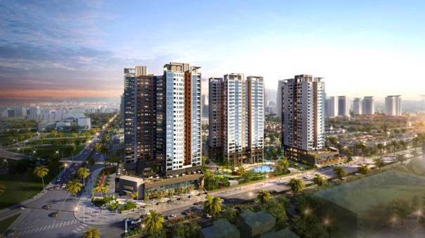 Phối cảnh khu chung cư Starlake với kiến trúc hiện đại, không gian sống tối ưu ánh sáng, khí trời...
