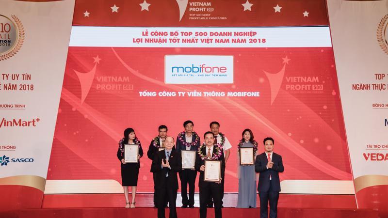 Đứng vị trí thứ 17 trong tổng số 500 doanh nghiệp có lợi nhuận tốt nhất Việt Nam, MobiFone cũng là một trong hai trong doanh nghiệp viễn thông có lợi nhuận cao.