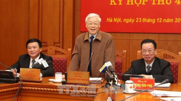 Tổng bí thư phát biểu tại phiên họp của Hội đồng lý luận Trung ương.
