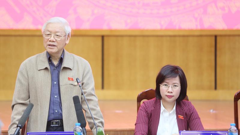 Tổng bí thư, Chủ tịch nước tiếp xúc cử tri Quận Ba Đình.