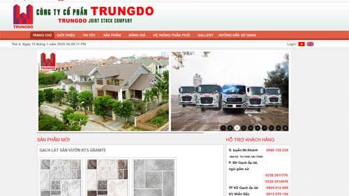 Trang web của Coong ty Cổ phần Trung Đô.