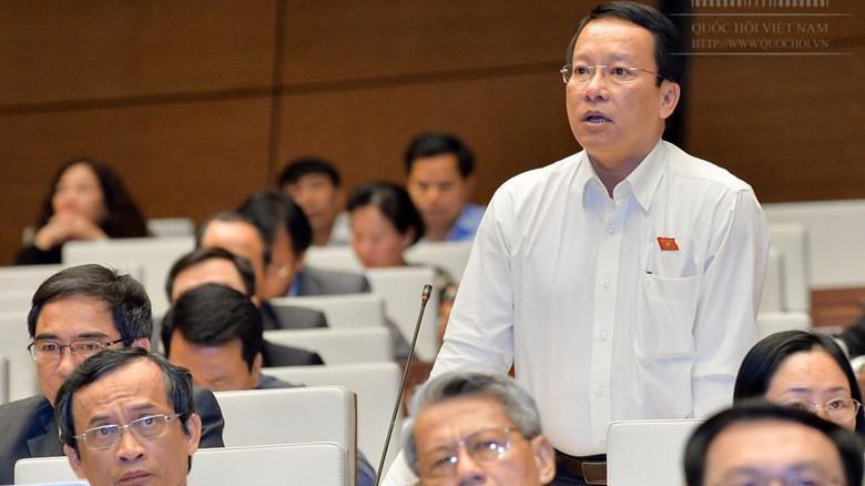 Đại biểu Thái Trường Giang (Cà Mau) phát biểu tại Quốc hội.