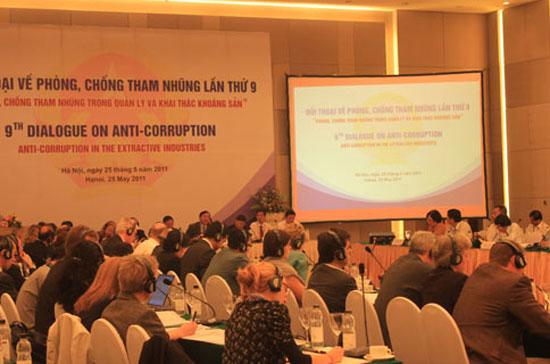 Cuộc đối thoại về phòng chống tham nhũng trong lĩnh vực quản lý, khai thác khoáng sản thu hút nhiều đại biểu trong và ngoài nước - Ảnh: Thế Dũng