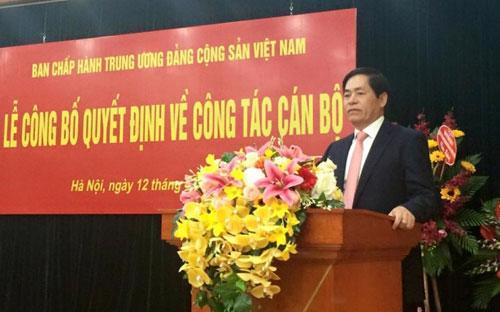 Chủ tịch Vietnam Airlines Phạm Viết Thanh tại buổi lễ nhận nhiệm vụ mới.<br>