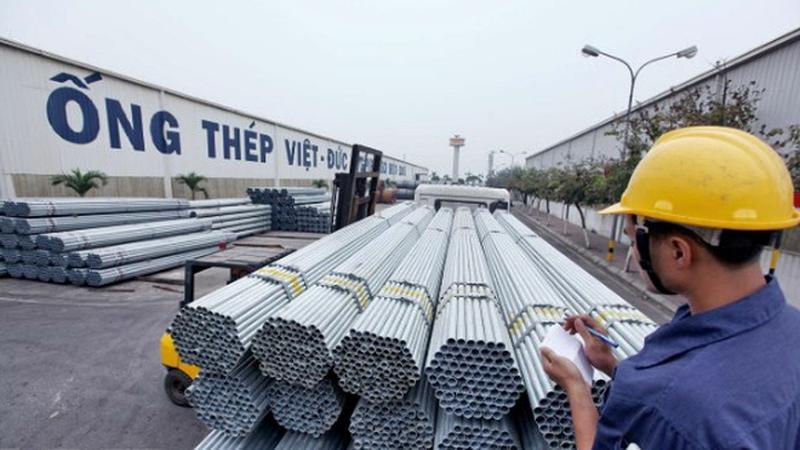 Thép Việt xuất khẩu sang Mỹ đối diện với nguy cơ bị áp thuế cao hơn. Ảnh minh hoạ