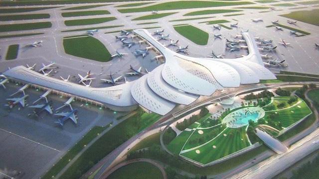 Dự án đầu tư xây dựng Cảng hàng không quốc tế Long Thành giai đoạn 1 có tổng mức đầu tư khoảng 109.111 tỷ đồng - Ảnh: VGP