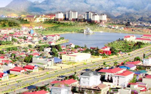 Một góc thành phố Lai Châu.<br>