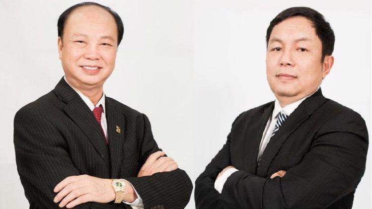 Ông Nguyễn Đình Thắng (trái) và ông Huỳnh Ngọc Huy (phải)