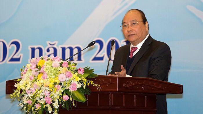 Thủ tướng tại Hội nghị Tham tán thương mại năm 2018.