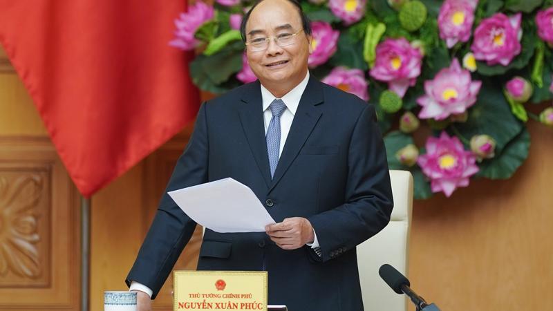 Thủ tướng Chính phủ Nguyễn Xuân Phúc phát biểu tại buổi gặp mặt.